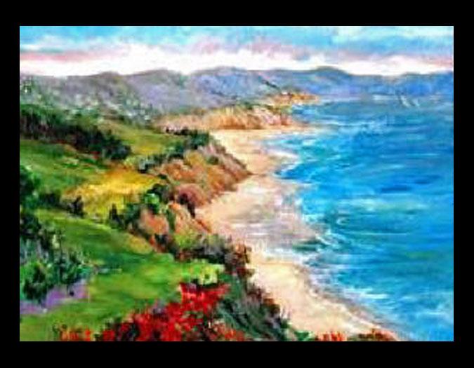 Original En Plein Air Beach Seascape Ocean Oil
