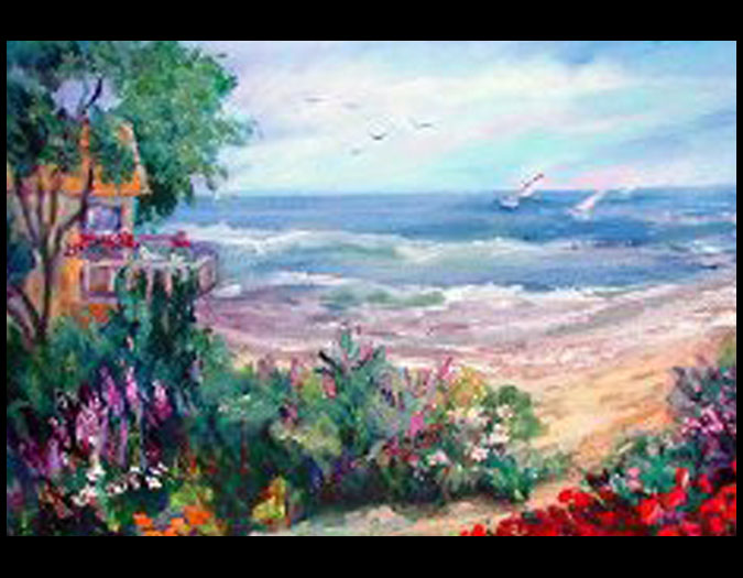 Original En Plein Air Beach Seascape Ocean Oil Paintings By
